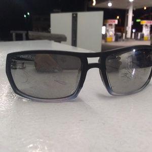 Biohazard wrap-around sunglasses